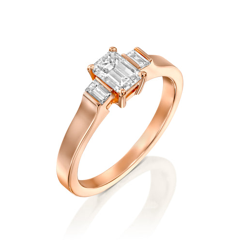 1.5 Carat 14K Rose Gold GIA Certified Diamond