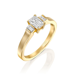"1 Carat 14K Yellow Gold GIA Certified Diamond ""Gabrielle"" Engagement Ring"