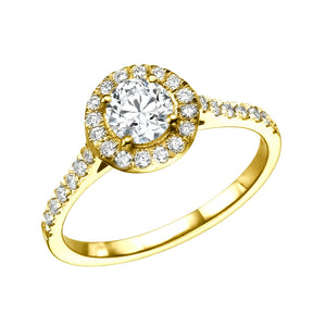 "0.9 Carat 14K White Gold Diamond ""Kellie"" Engagement Ring"