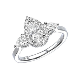 "1.5 Carat 14K White Gold Diamond ""Sophie"" Engagement Ring"