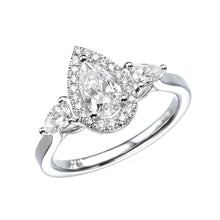"Load image into Gallery viewer, 1.5 Carat 14K White Gold Diamond ""Sophie"" Engagement Ring"