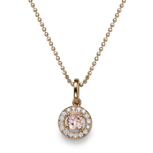 Morganite Pendants 14K with diamonds - Diamonds Mine