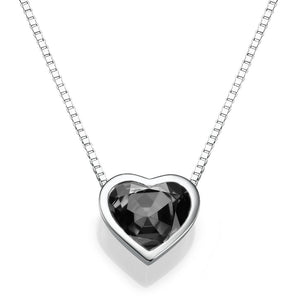 1.5 TCW 14K White Gold Black Diamond