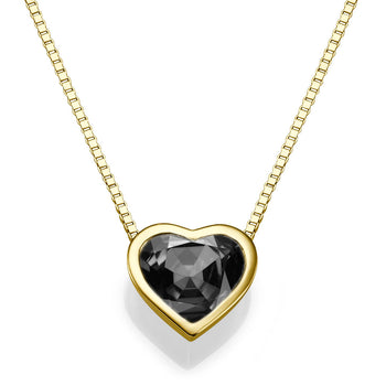 1.5 TCW 14K Yellow Gold Black Diamond