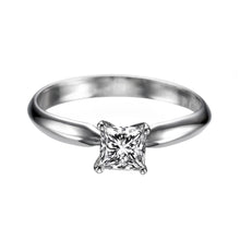 "Load image into Gallery viewer, 0.7 Carat 14K White Gold Diamond ""Kimberly"" Engagement Ring 