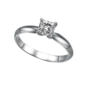 "0.3 Carat 14K White Gold Diamond ""Kimberly"" Engagement Ring - Diamonds Mine"