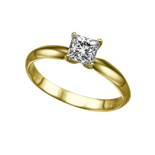 "Load image into Gallery viewer, 0.3 Carat 14K Yellow Gold Diamond ""Kimberly"" Engagement Ring - Diamonds Mine"