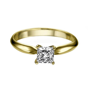 "0.7 Carat 14K White Gold Diamond ""Kimberly"" Engagement Ring"