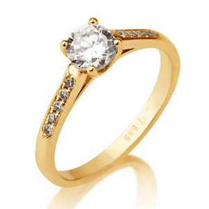 "0.7 Carat 14K Yellow Gold Diamond ""Melissa"" Engagement Ring"