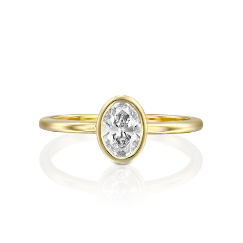 0.75 Carat 14K Yellow Gold Diamond