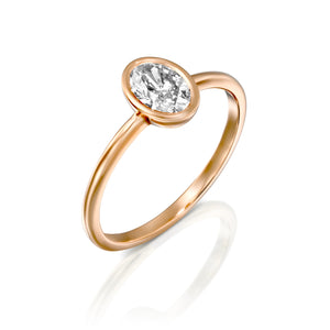 "0.5 Carat 14K Rose Gold Diamond ""Amber"" Engagement Ring"