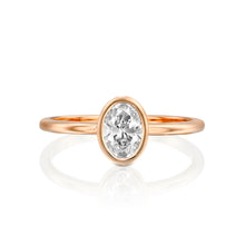 "Load image into Gallery viewer, 1 Carat 14K Rose Gold Moissanite ""Amber"" Engagement Ring"