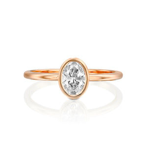 "1 Carat 14K White Gold Diamond ""Amber"" Engagement Ring"