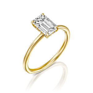 "1 Carat 14K White Gold Moissanite ""Catherine"" Engagement Ring"