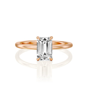 "2.5 Carat 14K Yellow Gold Moissanite ""Catherine"" Engagement Ring"
