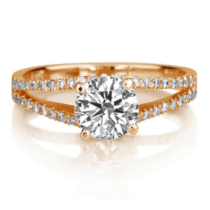 "1.3 Carat 14K White Gold Diamond ""Beverly"" Engagement Ring"