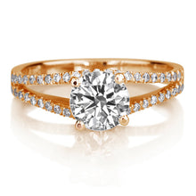 "Load image into Gallery viewer, 1.1 TCW 14K Rose Gold Moissanite & Diamonds ""Beverly"" Engagement Ring"