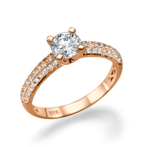 1.3 TCW Carat 14K Rose Gold Diamond