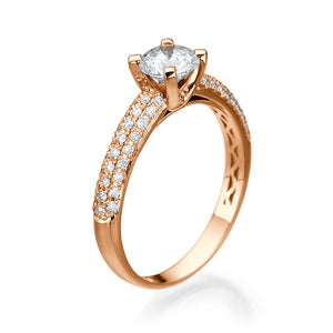 "2.3 Carat Carat 14K Yellow Gold Diamond ""Carmen"" Engagement Ring"