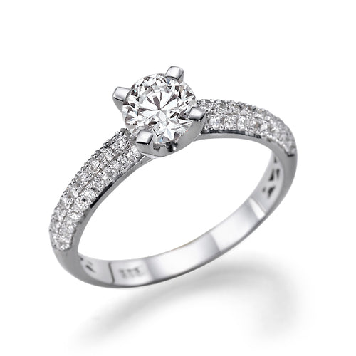 1.3 TCW Carat 14K White Gold Diamond
