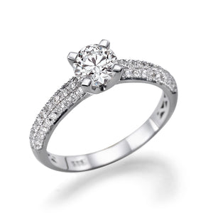 "1.3 Carat Carat 14K White Gold Diamond ""Carmen"" Engagement Ring"