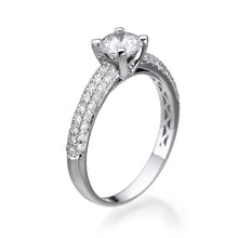 "Load image into Gallery viewer, 1.3 Carat Carat 14K White Gold Diamond ""Carmen"" Engagement Ring"