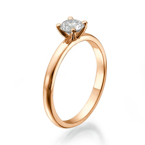 "0.7 Carat 14K Yellow Gold Diamond ""Aurora"" Engagement Ring"