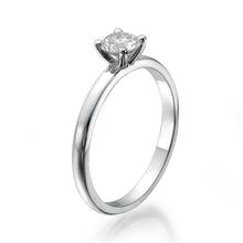 "Load image into Gallery viewer, 0.5 Carat 14K White Gold Diamond ""Aurora"" Engagement Ring"