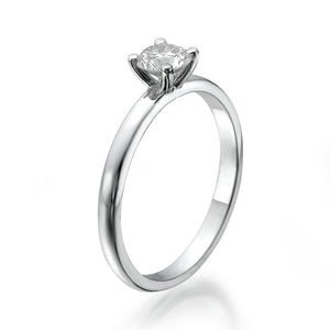 "0.5 Carat 14K White Gold Diamond ""Aurora"" Engagement Ring"