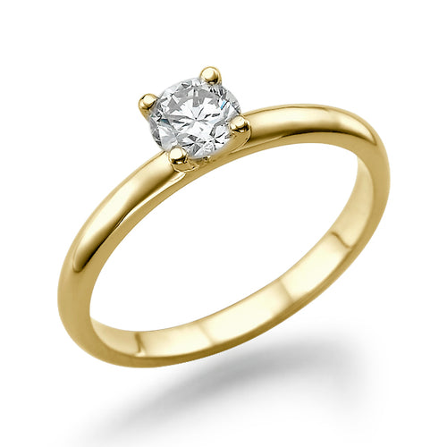 "0.3 Carat 14K Yellow Gold Diamond ""Aurora"" Engagement Ring - Diamonds Mine"