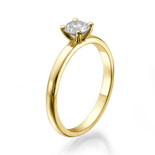 "Load image into Gallery viewer, 0.7 Carat 14K Yellow Gold Diamond ""Aurora"" Engagement Ring"