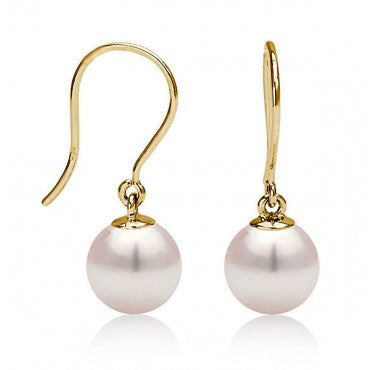 14K Gold Pearl Earring - Diamonds Mine