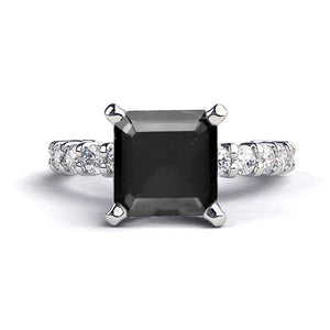 "1.9 Carat 14K White Gold Black Diamond ""Gloria"" Ring"