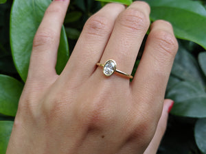 "1 Carat 14K Rose Gold Moissanite ""Amber"" Engagement Ring"