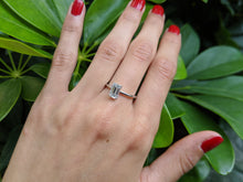 "Load image into Gallery viewer, 1 Carat 14K White Gold Moissanite ""Catherine"" Engagement Ring"
