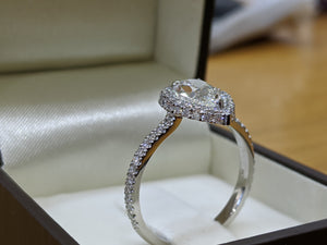 1.4 Carat Platinum GIA Certified Diamond Engagement Ring
