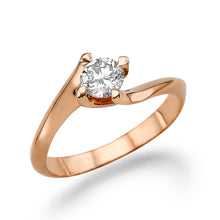 "Load image into Gallery viewer, 0.5 Carat 14K Rose Gold Moissanite ""Naomi"" Engagement Ring"