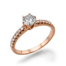 "Load image into Gallery viewer, 1 Carat 14K Rose Gold Lab Grown Diamond ""Venetia"" Engagement Ring"