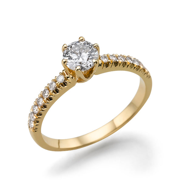 1.14 TCW 14K Yellow Gold Moissanite