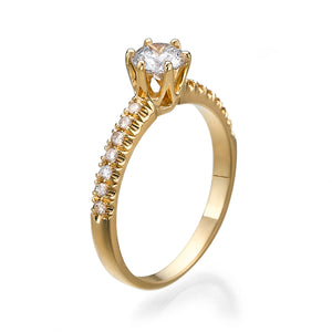 "0.8 Carat 14K Yellow Gold Diamond ""Venetia"" Engagement Ring"