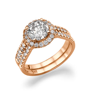 "2.7 Carat 14K Yellow Gold Moissanite & Diamonds ""Deborah"" Engagement Ring"