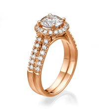 "Load image into Gallery viewer, 1.8 Carat 14K Yellow Gold Diamond ""Deborah"" Engagement Ring 