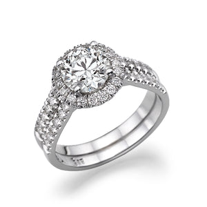 "1.36 TCW 14K White Gold Diamond ""Deborah"" Engagement Ring"