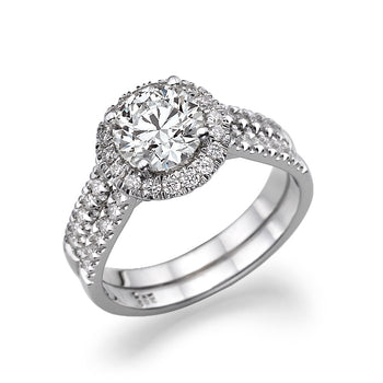 1.36 TCW 14K White Gold Diamond
