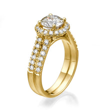 "Load image into Gallery viewer, 1.8 Carat 14K Yellow Gold Diamond ""Deborah"" Engagement Ring"