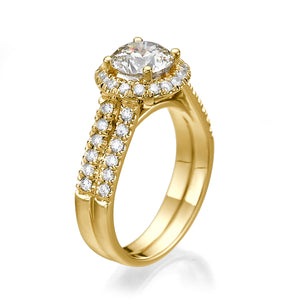 "1.8 Carat 14K Yellow Gold Diamond ""Deborah"" Engagement Ring"