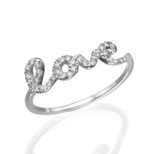 Load image into Gallery viewer, 0.11 TCW 14K White Gold Diamond Love Ring - Diamonds Mine