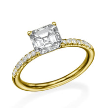 "Load image into Gallery viewer, 1.3 Carat 14K White Gold Moissanite & Diamonds ""Belinda"" Engagement Ring"