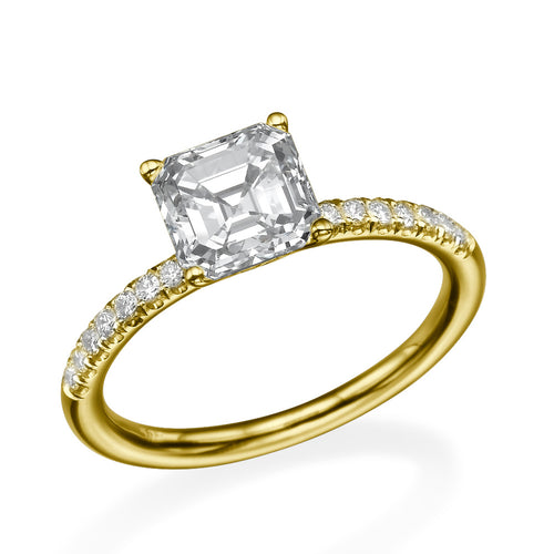 1.8 Carat 14K Yellow Gold Moissanite & Diamonds