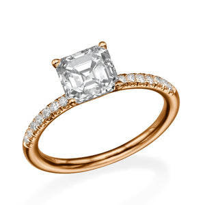 "1.8 Carat 14K Yellow Gold Moissanite & Diamonds ""Belinda"" Engagement Ring"